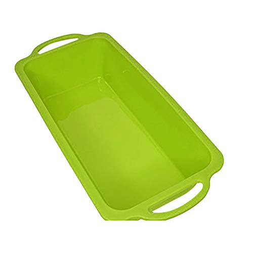 Nonstick Silicone Baking Mold Sturdy Handle Square Brownie Cake Baking Pan Patented Metal Reinforced Silicone Pans Non Stick Caramel Brownies Tray Bake BPA Cakes Mold for Cake Bread Pie