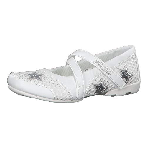 TOM TAILOR Damen 6972601 Geschlossene Ballerinas, Weiß (White 00002), 36 EU