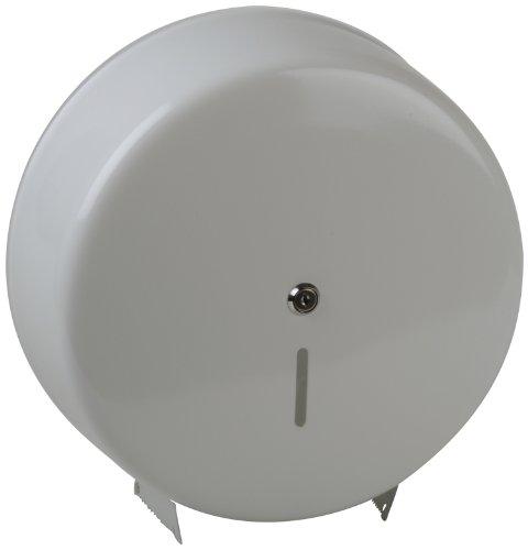 Semy Top Spender für Jumbo-Toilettenpapier, Metall/weiß , abschließbar, Rollen bis 32 cm Durchmesser, 1er Pack (1 x 1 Stück)
