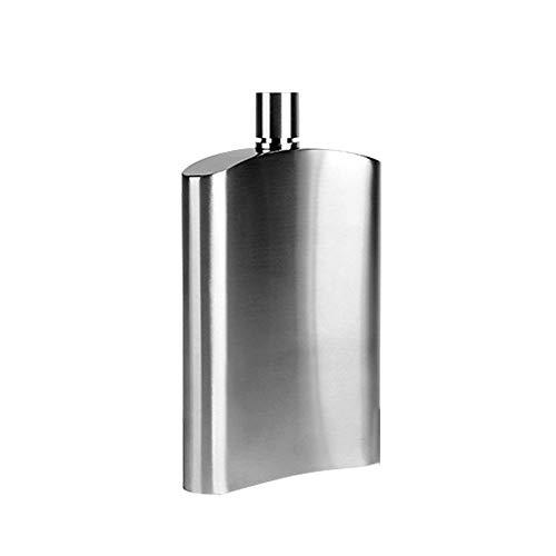 PQXOER Flachmann, 10 ounce, roestvrij staal, met trechter, discrete schot drinken van alcohol, whisky, rum en wodka-snaps Flachmann Flachmannetje