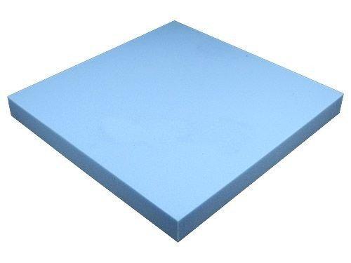 Heiro Schaumstoffplatte Blau 50x50cm Schaumstoff Kissen Schaumstoffpolster - extra formstabil - 5cm dick