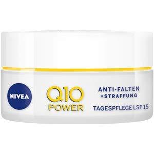 NIVEA Q10 Power Anti-Falten + Straffung Tagespflege für glattere & jünger aussehende Haut, Tagescreme mit LSF 15, (50 ml)