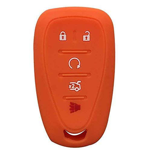 LZZCTB Cubierta de la llave del coche, llavero inteligente del silicón de la rana, cáscara protectora de la entrada sin llave, caja del botón, ajuste para Chevrolet Volt Chevy Camaro Cruze Malibu 2017