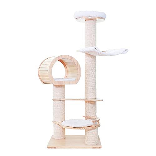 FYZKAY telaio in legno massiccio per arrampicata su un grande gatto villa gatto albero amaca in sisal colonna animale domestico gatto giocattolo forniture