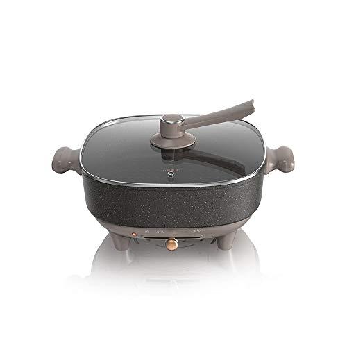 SXXYTCWL Mandarin de gran capacidad Duck Electric Pot Hot Pouse Medical Piedra No Stick y Fácil de limpiar la olla caliente eléctrica puede ajustar la temperatura y el calor rápidamente 1-6 PERSONAS C