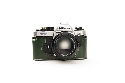 Funda de Cuero Genuino Hecho a Mano con Media cámara para Nikon FM2 FM FM2n FE FE2 de...