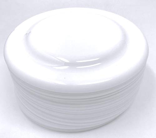 "36 Bulk 7"" Low-Cost White Plastic Flying Discs or Party Plates - Ideal for Birthday Parties, Beach Days and Luaus, Crafting and DIY Projects"