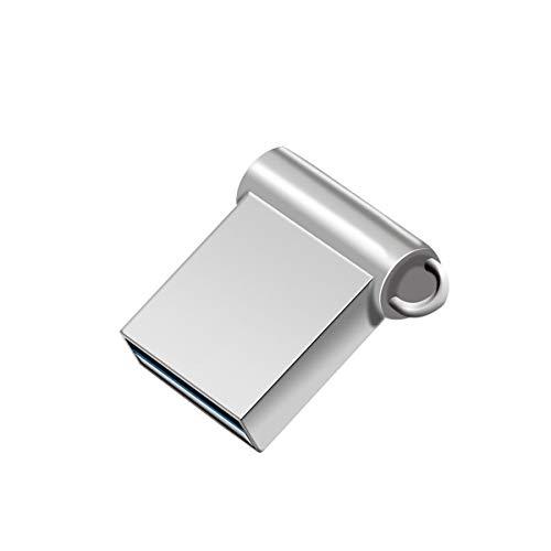 FeliSun Mini Metall USB-Flash-Laufwerk USB 3.0 Stick Flash Drive Speicherstick bis zu 80M/Sek Für PC, Notebook, Fernseher, Autoradio, Speaker.etc (128GB, Silber)