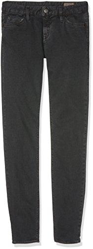 Herrlicher Damen Superslim Satin Hosen, Schwarz (Vintage Black 435), W27/L30 (Herstellergröße: 27)