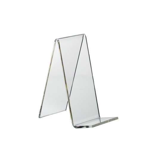 5 Stück Buchstütze/Warenstütze/Schrägsteller 110x50mm aus Acrylglas