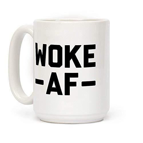 Maureen52Dorothy Woke Af Kaffeetasse, Keramik, 325 ml, Weiß