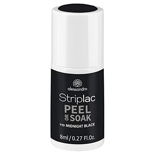 alessandro Striplac Peel or Soak Midnight Black – led-nagellak in diep zwart – voor perfecte nagels in 15 minuten – 1 x 8 ml
