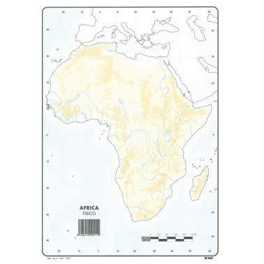 Mapa Mudo África Físico A4 (10 ud.)