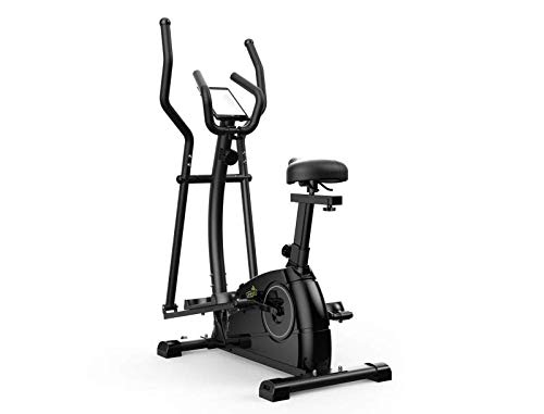 gneric Limepeaks - LMP-1001 (Black) Compact 2-In-1 Dual Action Indoor Elliptical Cross Trainer and Cycling Machine with 8 Resistance Levels Adjustable Seat Digital Monitor and Tablet Holder