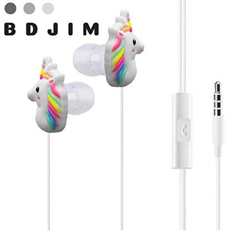Auriculares de unicornio intraurales resistentes al agua, estilo único con micrófono, compatible con Apple iPhone Samsung. Toma jack clásica, ideal para teléfonos, escuchar música y mucho más.