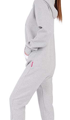 GB4 Finchgirl Damen Jumpsuit Jogging Anzug Trainingsanzug Overall Hellgrau - 3
