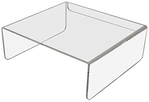 E10 Ergonomischer Monitorständer 27 x 25 x 10 cm BxTxH Acrylglas klar
