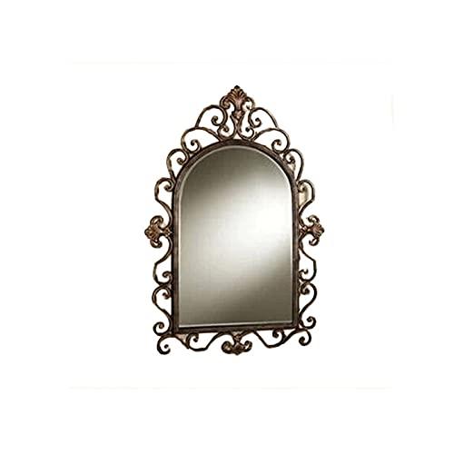 Home - mirror Decoración del hogar Espejos Retro Fondo De Pared Espejo, Viento Industrial Angustiado Espejo Decorativo Corredor Galería Restaurante Sala De Estar Espejos de baño(Size:80 * 53CM)
