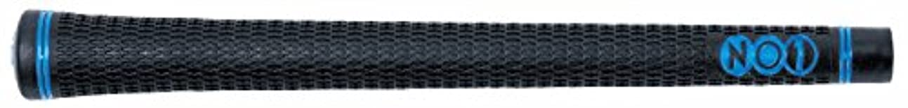 緊張百技術グリップ NO1 NO1グリップ 50シリーズ Soft&Solid バックライン 有?無 (黒×青, バックライン有)