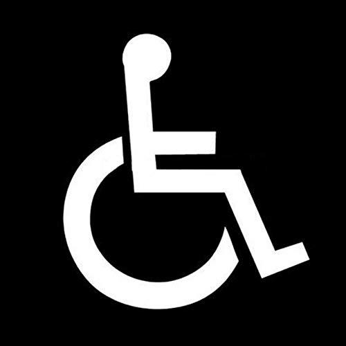 DYTE Auto Aufkleber 10 * 11,5 cm Behinderte Symbol Reflektierende Auto Aufkleber Motorrad Aufkleber Auto Styling Schwarz/Silber