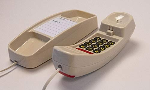 Slim Line Corded Ivory Color Telephone- Great Clarity