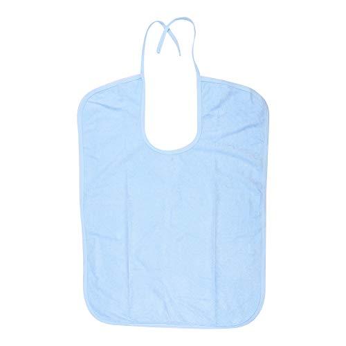 Vuxen haklapp klädskydd, vattentät måltid haklapp äldre funktionshinder hjälp laga matkläder tvättbara (50 x 71 cm-ljusblå)