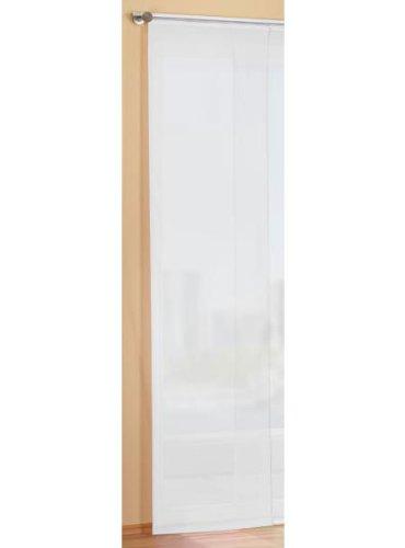 Gardinenbox Preisgünstiger Flächenvorhang Schiebegardine, transparent, unifarben, mit Zubehör, 245x60, Weiß, 85589