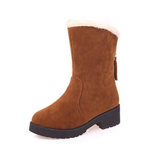 XHYX herfst- en winterlaarzen, kort, franjes, warm, sneeuw, laarzen, voor vrouwen, geen laarzen