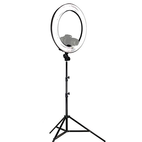 LimoStudio 18' Ring Light Dimmable Fluorescent...