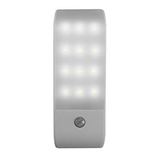 12 LED PIR autoadhesivo recargable guardarropa nocturna USB detector de movimiento sensor de inducción armario, corredor lámpara 5 V