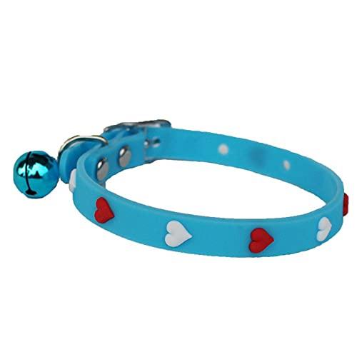 Lindo Collar de Goma para Perros, Collar para Mascotas para Perros pequeños y medianos, Collar para Mascotas, Suministros para Mascotas, Azul, S