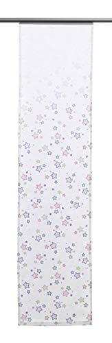 Clever-Kauf-24 Schiebevorhang Sterne | 60x245cm | Flächenvorhang für Das Kinderzimmer | für Kleine und große Prinzessinnen |