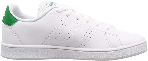 adidas Advantage K Zapatillas de Tenis, Unisex, para Niños, (Multicolore Ftwbla Verde Gridos 000), 38 EU