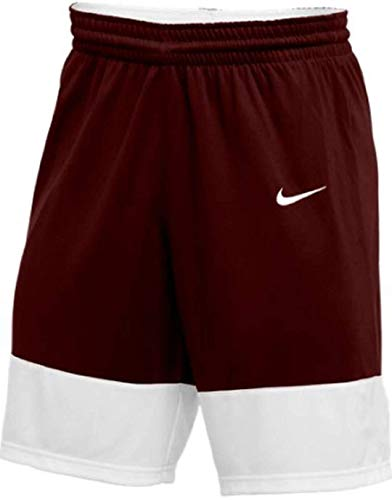 Nike Mens Elite Franchise Short (Dark Maroon/White