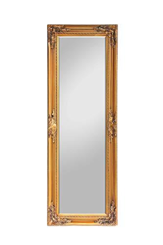 Rococo by Casa Chic - Goldener Shabby Chic Spiegel zum Hinstellen oder Aufhängen - Handgefertigt - Barock - Groß - 130x45 cm - Antik Gold - Facettenschliff