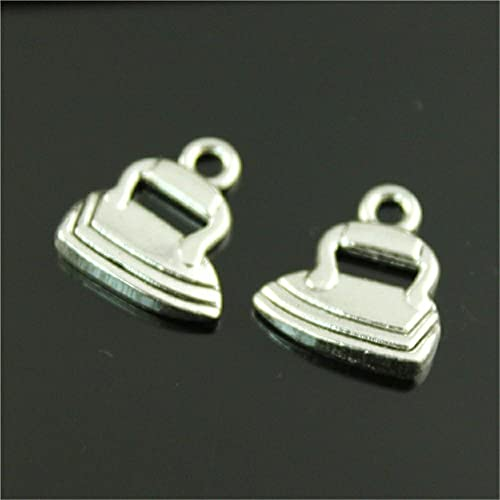 WANM Anhänger 10 Stück Charms Schmuck Fundstücke DIY Zubehör Eisen Anhänger Antik Silber Farbe 17X15Mm
