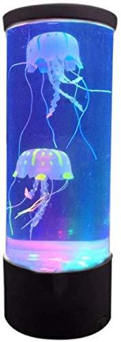 shicancan LED-Quallen-Turm-Lampe, künstliches Quallen-Aquarium, Nachttischlampe, USB, super energiesparend, Aquarium, Dekoration, 10,4 x 10,4 x 28 cm