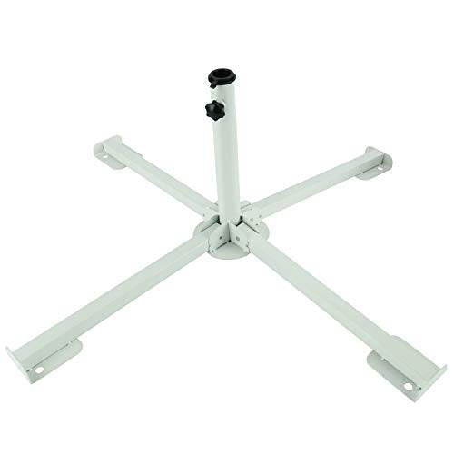 YaeTek Soporte de playa plegable portátil, soporte ajustable para sombrilla de patio, soporte para sombrilla de playa, ancla para exteriores (base de paraguas)