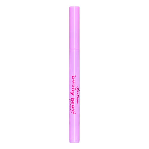 Lime Crime Bushy Brow Precision Pen, Brownie - Neutral Dark Brown Eyebrow Definer and Filler - Adds Texture & Shape - For Full, Natural Brows - Vegan - 0.02 oz