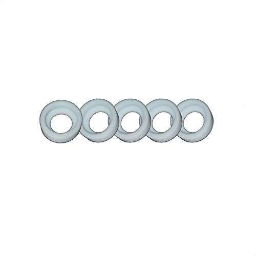 WeldingCity 5-pk Teflon Cup Gasket 18CG-20 for Stubby Setup in TIG Welding Torch 17, 18 and 26 Series in Lincoln Miller ESAB Weldcraft CK Everlast AHP