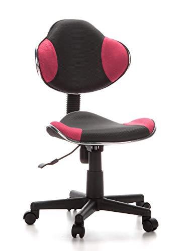 hjh OFFICE 670900 Kinderdrehstuhl Bürostuhl KIDDY GTI-2 grau pink, kindgerechte Ausführung für Schulanfänger, ergonomischer Kinderschreibtischstuhl, Kinderbürostuhl höhenverstellbar, Jugendstuhl