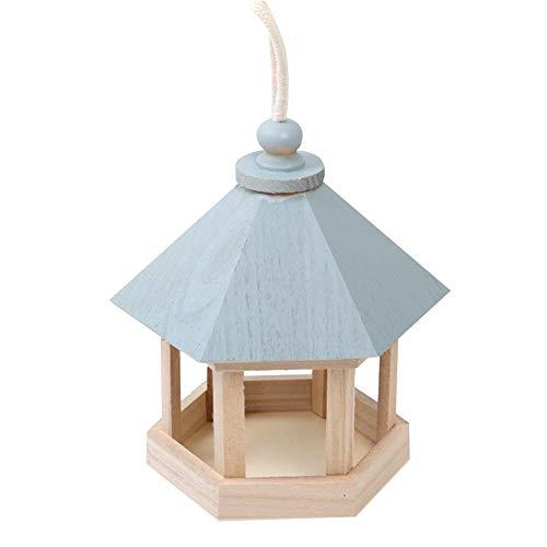 Holz vogelhaus zum aufhängen aus Fichtenholz inklusive Aufhängeschnur futterhaus vogelhaus bausatz