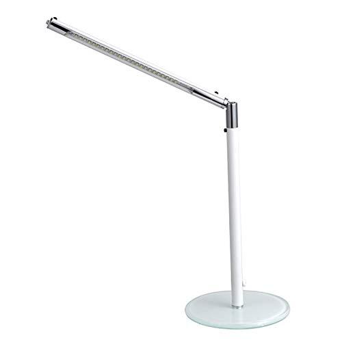 HENY LED 5500K Lámpara De Flexo Escritorio para Oficina Casa,Aleación De Aluminio Cuidado De Ojos 10W Regulable Lámpara De Mesa,con Carga USB Clase De Energía A+++-Blanco