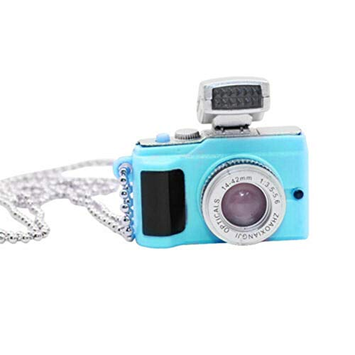 Fxhan Fotoflash Camera 3D Pendant Photo Grafer Charm Necklace Keychain Bag Pandent Necklace
