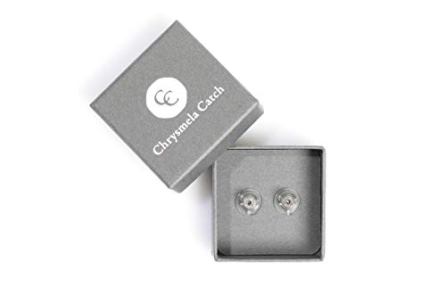 Most Secure Locking Earring Back Lifter Platinum by Chrysmela Automatically Fit Lock Lift earrings hypoallergenic patented in the US UK France Italy and Japan