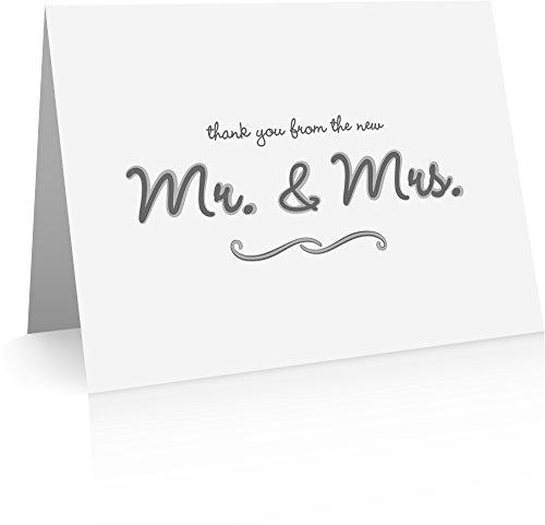 Dankkarten für Hochzeiten (40 Faltkarten und Umschläge) Hochzeits-Dankkarten