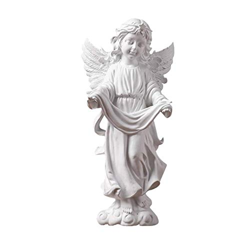 Uziqueif Angel ornaments figurines - angel wings Statue Resin Sculpture for Home Table Decoration,B