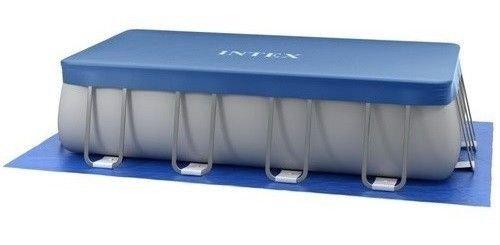 Intex 18037 Abdeckplane für Sommer/Winter, ultraviolett, rechteckig, 400 x 200 x 100 cm