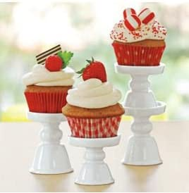 wholesale Porcelain Cupcake/Mini Treat Pedestal Stands new arrival - Set online sale of 4 outlet sale