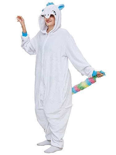 Adulto e Bambino Unisex Unicorno Tigre Leone Volpe Tutina Animale Cosplay Pigiama Costume...